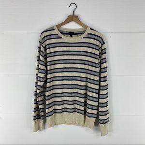 J. Crew Navy Striped Sweatshirt Size L